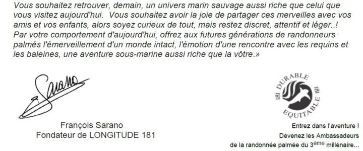 La Charte du Randonneur Subaquatique LONGITUDE 181 : un guide d'écoresponsabilité pour tous !