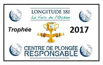 EQUATION DIVE reçoit Le trophée 2017 du centre écoresponsable !