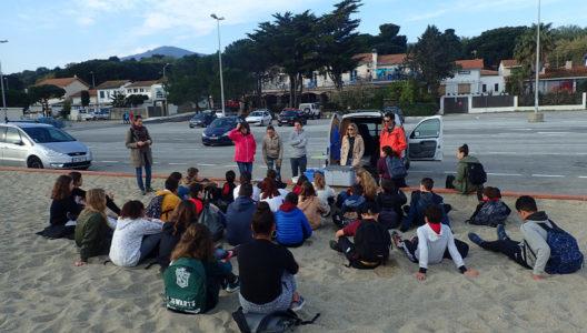 A la découverte des rivages, avec les élèves du collège d'Argelès…