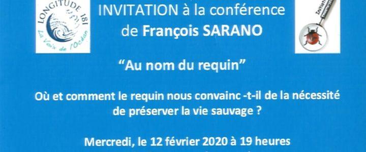 """Une conférence LONGITUDE 181  """"Au nom du Requin"""" au Luxembourg le 12 Février"""