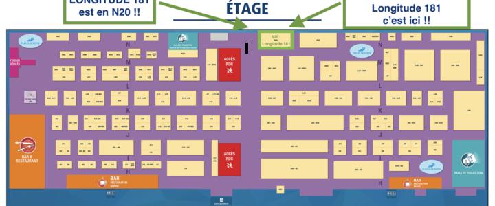 Pour nous y trouver, voici le  plan du salon de la plongée!