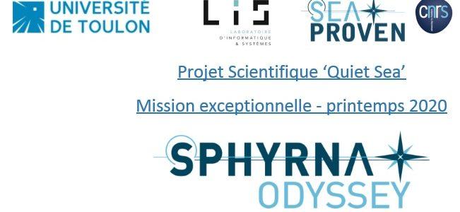 """Mission Sphyrna-Odyssey """"Quiet sea"""", une occasion unique d'écouter la faune sauvage"""