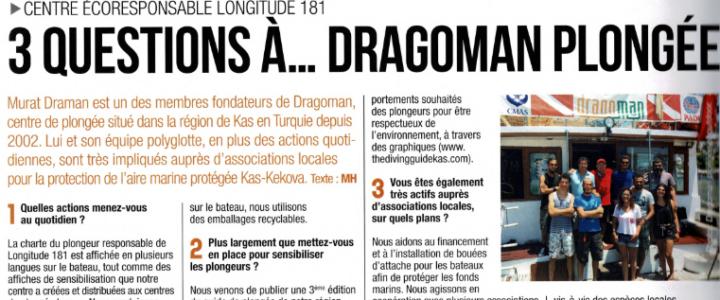 """Rétrospective 2019 Dragoman Plongée mis à l'honneur dans """"Plongez!"""""""